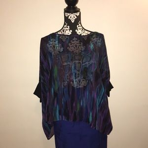 AMAZING Sheer patterned Express Top